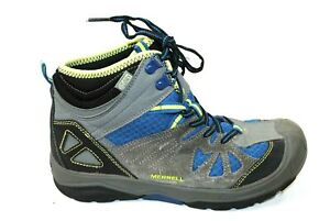Merrell Capra Mid Dry Waterproof Hiking Boots Blue Shoes Size 5M Youth