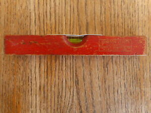 """Johnson Levels Milwaukee Wisconsin WI Mini Red Wood Level Collect 7"""""""