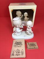 ENESCO PRECIOUS MOMENTS BABY'S FIRST HAIRCUT #12211 With Box 1985 Bird Mark