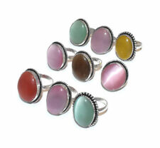 Exclusive Lot 20 PCs. MONALISA Gemstone 925 Sterling Silver Plated Ring Jewelry