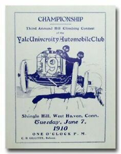 1910 Yale University Hill Climb 3rd Annual vintage reproduction poster print