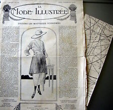 LA MODE ILLUSTREE + PATRON,  n° 18/1920 Voir modèles à réaliser, FRENCH PATTERN