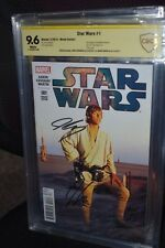 Star Wars #1 Photo Variant CBCS SS 9.6 2x Signed Cassidy & Arron Marvel 1:15 CGC