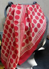Blind Cat Rescue - Soft Pure Silk Scarf with Colorful Red Polka Pattern