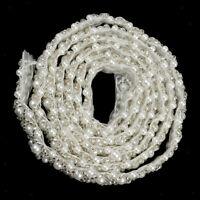 1 Yard handgemachte Perle Perlen Nähen Trim Kette Kleid Dekor Handwerk