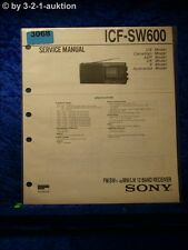 Sony Service Manual ICF SW600 12 Band Receiver (#3068)