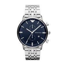 NEU Emporio Armani AR1648 Herren Stahl Chronograph Watch - 2 Jahr Garantie