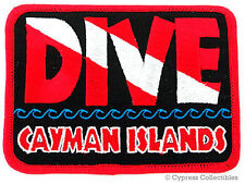 DIVE CAYMAN ISLANDS EMBROIDERED PATCH SCUBA GRAND FLAG IRON-ON TRAVEL SOUVENIR