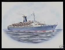 Original Art Work .ss Angelina Lauro .cruise ship.Lauro Lines