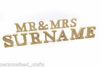 Wedding Mr and Mrs With PERSONALISED Surname Freestanding 10cm 100mm Letters