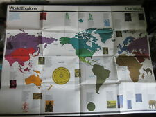 WORLD EXPLORER MAP 1973 World Explorer Program