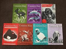 7 COUNTRY FAIR MAGAZINES FROM 1955, 1956, 1958, 1959, 1960 X 2 & 1961