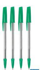 50 GREEN MEDIUM NIB Ballpoint Pens with Grip and Safety Airflow Cap