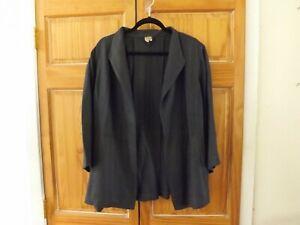Eileen Fisher Linen Blend Jacket/Topper in Dark Gray---size 2X