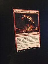 MTG MAGIC SOI WOLF OF DEVIL'S BREACH (FRENCH LOUP DE LA BRECHE DU DIABLE) NM