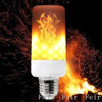 LED Flame Effect Simulated Nature Fire Light Bulb E27 E26 E14 E12 B22 Decor Lamp