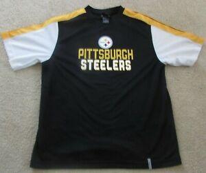 Pittsburgh Steelers Black Yellow White Reebok Tee Shirt Size Medium