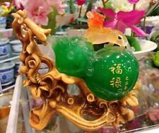 8Lucky Chinese Feng shui Pixiu Beast Gourd Cucurbit Calabash Wu Lou statue 8 in