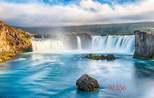 Waterfall Vinyl Photography Backdrop Background Photo Studio Props 5X3FT DZ456