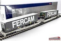 ROCO 76435 - H0 1:87 - Carro trasporto intermodale con due container Sdggmrs/T20