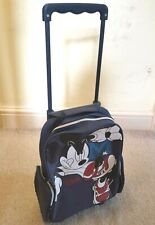 Mickey Mouse Disney Sports Cabin Hand Luggage Travel Holiday Trolley Bag Kids