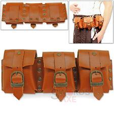 Steampunk Bandolier Multi-Pocket Belt or Shoulder Pouch Genuine Leather Handmade