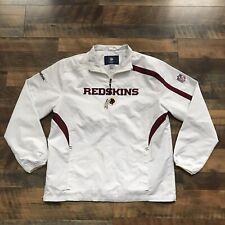 604a59bcf Washington Redskins On Field Jacket Mens Size Small White Windbreaker Reebok