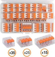 Wago Klemmen Set Sortiment Serie 221 224 und 2273 80 oder 140 Teile mit Hebel