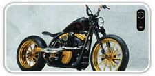 iPhone 5 5S Lightweight Gold HARLEY Davidson Fatboy MOTORCYCLE Case grey Bckgr