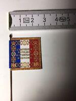 667) 1x 25mm 28mm French Napoleonic Flag 1e Artillery Regiment 1812 Pattern