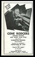 1944 Gene Rodgers photo vintage music trade booking ad