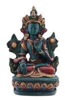 Soprammobile Tibetano Da Verde Tara Meditazione IN Resina Budda 9cm - 7704