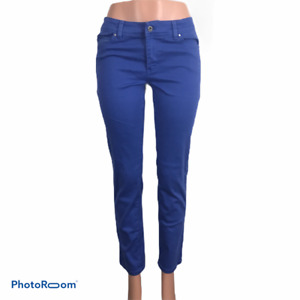 White House Black Market Purple Slim Ankle Jeans 8r 31x30