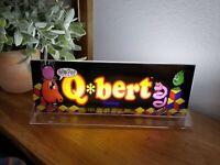 "Q*BERT QBert Backlit 4"" x 11"" Marquee w/ The Arcade Light Display"