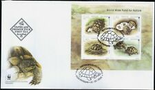 FDC S/S Fauna WWF Turtles  2016 from Bulgaria  avdpz