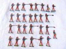 Plats d'étain - flat tin - zinnfiguren :  Guerre de 1870 - 28 zouaves