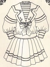 """23-24"""" Period Doll Sailor Dress sewing Pattern Victorian German French 189"""
