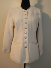 Geiger Womens Blazer Jacket 100% Wool Thin Sz 4 EU 34