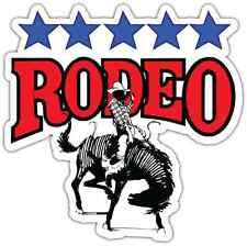"Rodeo Car Bumper Window Tool Box Sticker Decal 4.5""X4.5"""