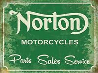 New 15x20cm Norton Parts Sales Service reproduction small metal advertising sign