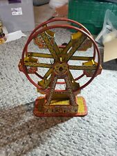 Vintage 1930's  J Chein Hercules Ferris Wheel Tin Toy