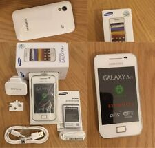 NEW SamsungGalaxy Ace GT-S5830i Sim Free Unlocked White Android Smartphone BOXED