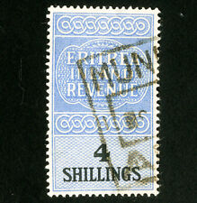 Eritrea Stamps VF Used 4 Shilling Revenue