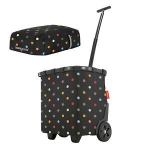 reisenthel carrycruiser dots Einkaufstrolley + cover black Exclusiv Rahmen