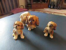 Vintage Miniature Pekingese Dog Figurines - Set of 3 - Japan