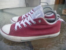 CONVERSE SIZE UK 5 JUNIOR TRAINERS MAROON GREY