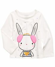 New listing First Impressions Infant Girls Bunny Print T-Shirt  White 6-9 Months