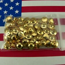 50 Locking Pin Backs for Disney pins Flathead Clutch Fastener Gold Chrome Scouts