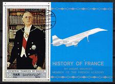 Yemen French President De Gaulle 1970 Souvenir Sheet
