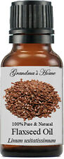 Flaxseed Oil - 15 mL - 100% Pure and Natural - Free Shipping - Us Seller